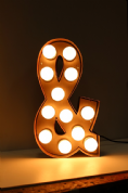 Bulb sign Letters